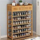 Almacenamiento de zapatos Zapato de bambú simple Gabinete de zapatos Zapatos Multi-capa Zapatos Estante Doble Doble Estante...