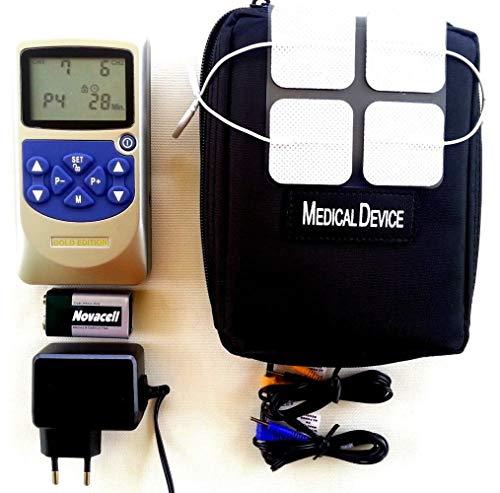 Tens Ems Gerät 2 bis 4 Kanal 220 Volt Reizstrom Gerät Muskelaufbau Muskelstimulations Gerät Muskelstimulator 30 bis 50 Programme Schmerztherapie Nervenstimulations Elektrotherapie Gerät