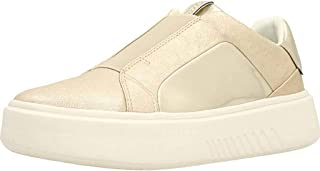 Geox - Sneakers Slip on Donna in Pelle con Platform - Argento Nhenbus D828DB 0KYBN C1007 - D828DB 0KYBN C1007