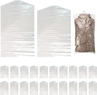 Sacs à Vêtements Suspendus, 20 Pièces Sacs à Vêtements Transparents, Housse de Garde-robe Sacs de Costume Protecive contre...