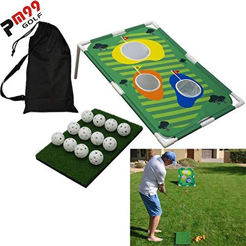 Cracklight Backyard Golf Cornhole Game Fun Indoor Outdoor Golfing Chipping Game Practice Training Target Set (Sin Palos de Golf