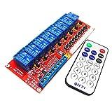 Sharplace Conjunto de Tarjeta de Control de Módulo de Relé 8 Canales con Mando Distancia para Arduino Bidireccional - 5v