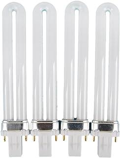 Coscelia 4Pc 9W UV Gel Nail Art Curing Lamp Dryer Light Bulb Kits