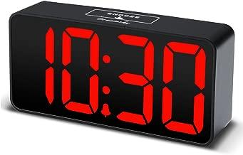 DreamSky Compact Digital Alarm Clock with USB Port for Charging, Adjustable Brightness Dimmer, Green Bold Digit Display, 12/24Hr, Snooze, Adjustable Alarm Volume, Small Desk Bedroom Bedside Clocks.