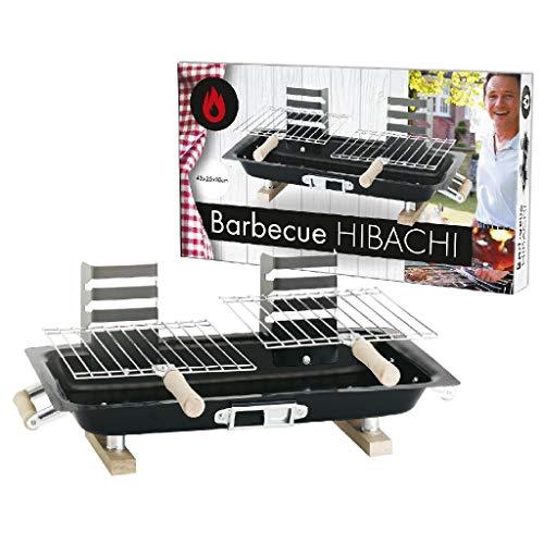 AK Sport 05402 Hibachi Barbecue, Zwart, 43 X 25 X 18 cm