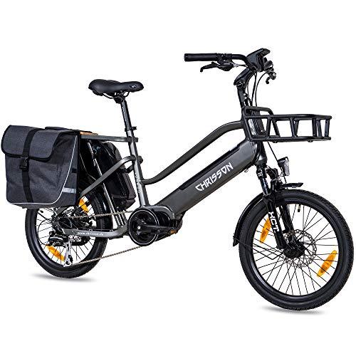 CHRISSON 20 Zoll E-Bike Lastenfahrrad...