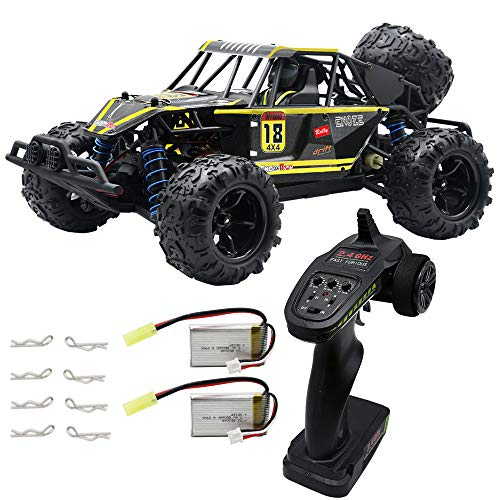 Blomiky RC Car 40KMH High Speed Remote Control Car for Kids Adults 1:18 Scale 4WD Off Road Monster Trucks 9303E Yellow