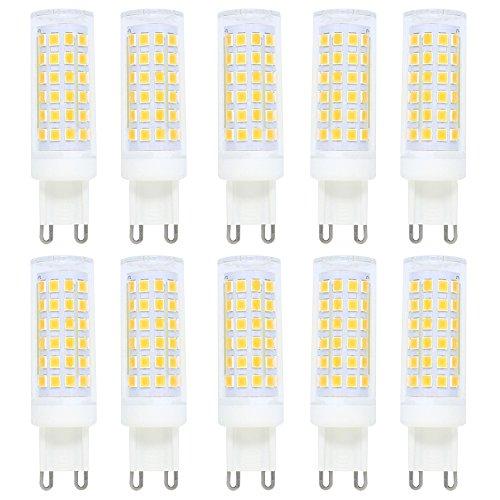 10X G9 Dimmbar LED Lampe 9W,Warmweiß 3000K,G9 energiesparlampe,G9 Stiftsockellampe,700 Lumen,AC220V