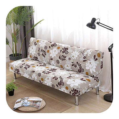 Lanng All-Inclusive Sofa Cover Floral Without Armrest Sofa Bed Cover Tight Wrap Elastic Protector Slipcover Couch Cover funda sofa-125846-150-185cm