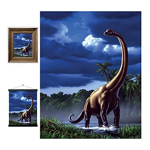 3D LiveLife Lenticular Cuadros Decoración - Braquiosaurio de Deluxebase. Poster 3D sin marco de dinosaurios. Obra de arte original con licencia del reconocido artista, Jerry LoFaro