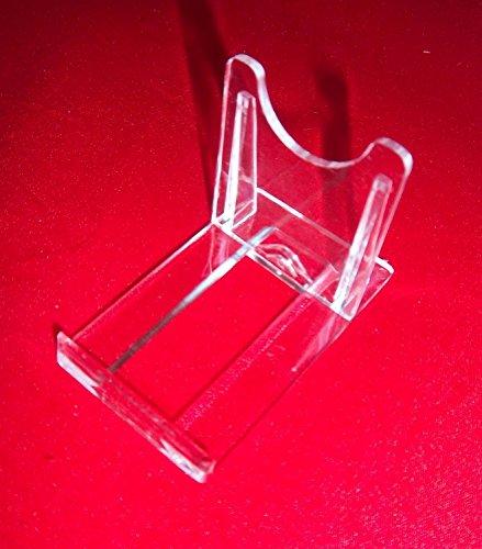 10 Teller-Ständer Halter Acryl 95 mm 55 mm Höhe 77 mm bis 28 cm Halter für Handy CD Bluray vom Sachsen Versand
