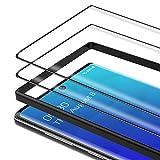 Bewahly Cristal Templado para Samsung Galaxy Note 10 [2 Piezas], 3D Curvado Completa Cobertura Protector Pantalla con Marco de Instalación Fácil, 9H Dureza Vidrio Templado para Samsung Note 10 (Negro)