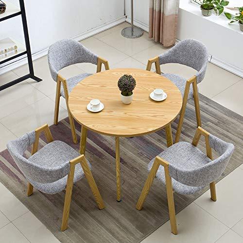 JU FU Tisch und Stuhl Set, im europäischen Stil Einfachen Tisch und Stuhl Kombination Büro Balkon Freizeit Tisch, 11 Farben verfügbar (Color : D, Size : 1 Table with 4 Chairs)