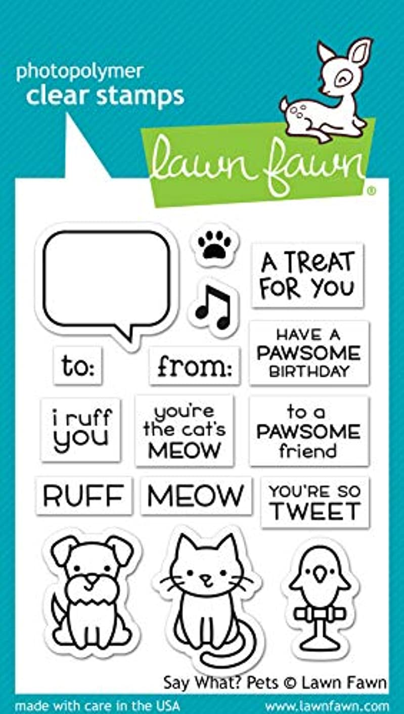 Lawn Fawn LF1962 Say What? Pets 3X4 Clear Stamp Set