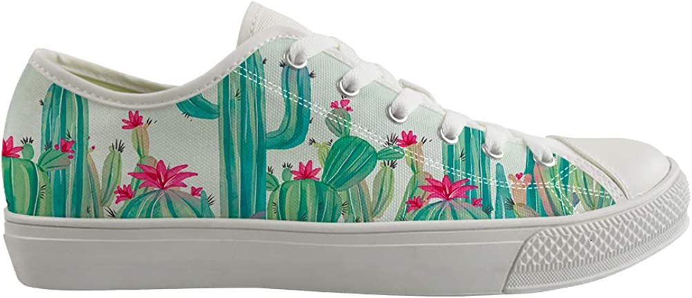 Classic Sneakers Unisex Adults Low-Top Trainers Skate Shoes Blooming Arizona State Cactus Flower