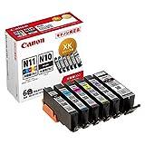 Canon 純正 インクカートリッジ XKI-N11XL(BK/C/M/Y/PB)+N10XL 6色マルチパック 大容量タイプ XKI-N11XL+N10XL/6MP 長さ:4.35cm 幅:11.4cm 高さ:10.35cm