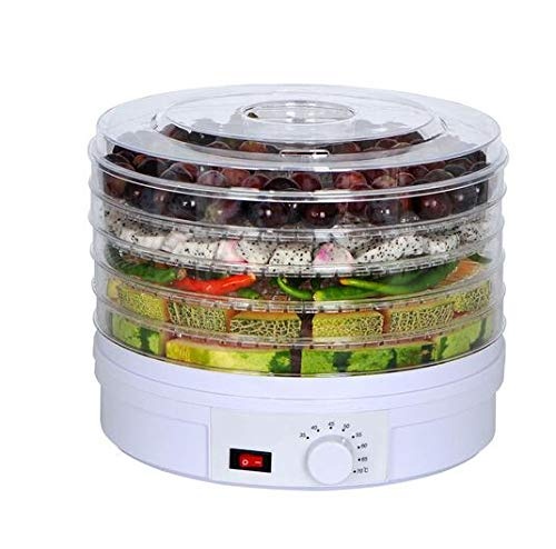 Buy Discount Food Dehydrator Fruit Vegetable Herb Meat Drying Machine Snacks food Dryer with 5 trays...