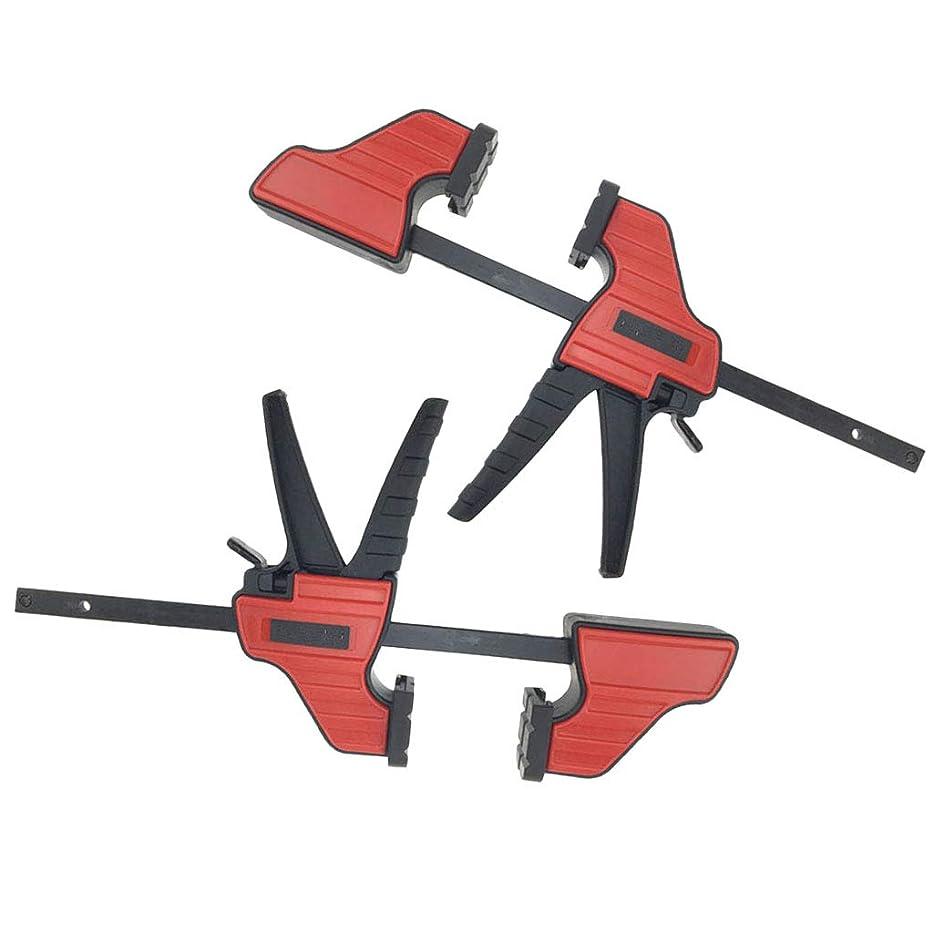 アーティスト内なる研究作業工具 コーナークランプ 4インチ 木工ツール Fクランプ 木工クランプ 工業用 2個入り