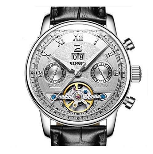 ECHTE zeigt Automatische Mechanische Armbanduhr für Männer Mode Tendenz Wasserdicht Wasser zeigt Lenkrad Herren 12