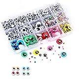 Ojos Adhesivos, 1500 Piezas Ojos de MuñEcas Adhesivos Ojos Moviles para Diy, Arte, Proyectos de...