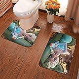 Lindsay Gosse Juego de alfombras de baño de 2 Piezas Elsa Alfombras De Baño, Juegos De Contorno para Bañera, Ducha Y Baño