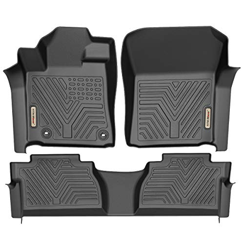 YITAMOTOR Floor Mats Compatible with Toyota Tundra, Custom Fit Floor Liners for 2014-2021 Toyota Tundra Double Cab & Crew Max Cab, 1st & 2nd Row All Weather Protection