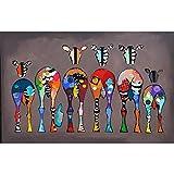 BFSA Zebra Astratta Dipinti su Tela da Parete Animali Colorati Stampe d'Arte Animali africani Immagini artistiche Decorazione Domestica Moderna