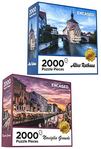 (2 Pack) Jigsaw Puzzles for Adults - 2000 Piece Large & Challenging Puzzle Set (Skill Level: Advanced)