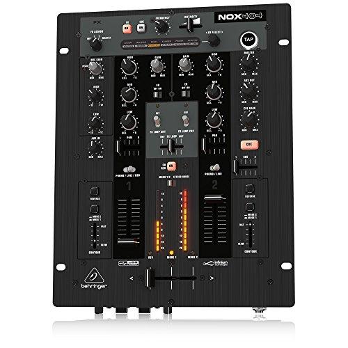 Behringer Pro Mixer NOX404 Premium 2-Kanal DJ Mixer mit infinium Contact-Free VCA Crossfader, Beat-Syncable FX und USB Audio Interface