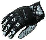 HEYBERRY Motorrad Handschuhe Motorradhandschuhe Sommer schwarz weiß Gr. M