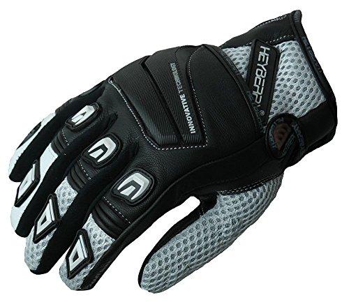 HEYBERRY Motorrad Handschuhe Motorradhandschuhe Sommer schwarz weiß Gr. XL