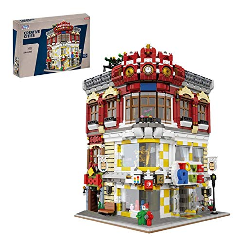 Haus Bausteine Bausatz, Spielzeugladen & Buchhandlung Modular Architektur Modell, 5491 Klemmbausteine Und 12...