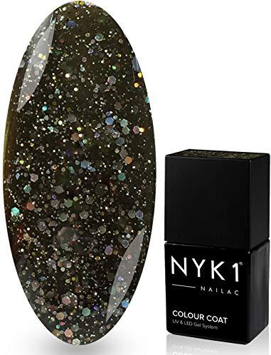 Nyk1 Nailac - Diamant à quartz - professionnel Shellac Vernis à ongles Vernis à ongles gel UV et LED - Séchage rapide - Soak Off Vernis en gel 10 ml - Plus de 100 Shellac Vernis à ongles couleurs au choix