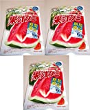 コンビニー限定 2020年6月新発売 明治 Meiji 果汁グミ すいか 果汁100 数量限定 くだもの食べよう。 噛むコラーゲン 2500mg グミキャンデー 47gx3袋 食べ試しセット GUMMY CANDY Watermelon