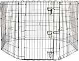PSK PET MART Foldable Metal Pet Exercise and Playpen with Door, 36'