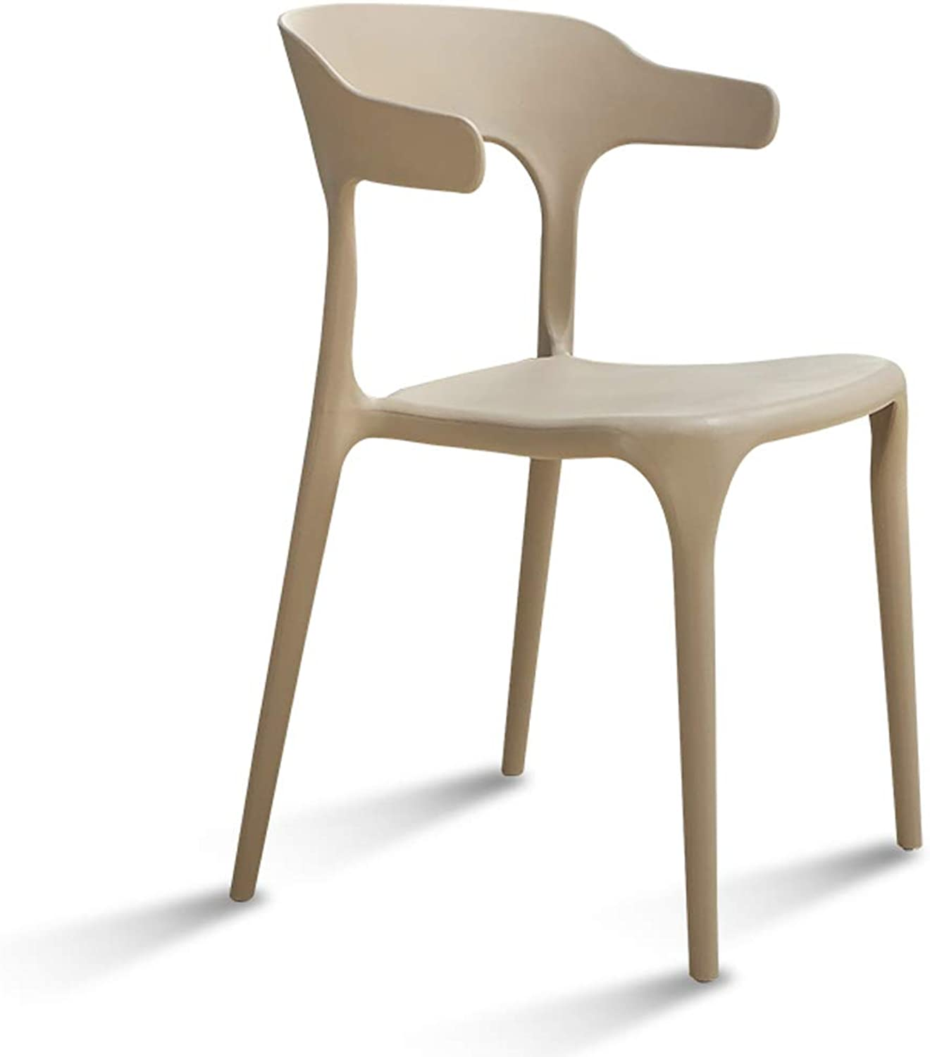 LRW Modern Simple Plastic Dining Chair, Nordic Fashion Leisure Chair Restaurant, Creative Backrest Stool