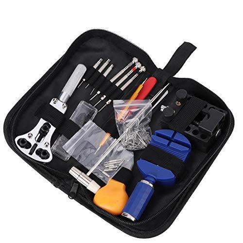 Removedor de correa de reloj Kit de herramientas de reparación de relojes 147 piezas de alta precisión, pequeño para relojero