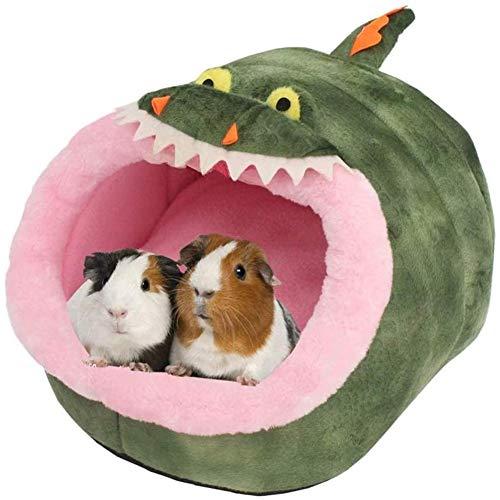 Heritan Hedgehog Guinea Pig Chinchilla Cama Accesorios Jaula Juguetes Barbudo Dragon House Hámster Suministros Habitat Huron Rat,L