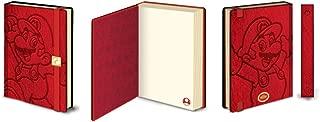 Pyramid America Mario Luigi Nintendo Video Game Red 180 Page Journal Notebook 6x8 inch