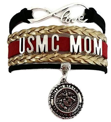 USMC Mom Bracelet, USMC Mom Jewelry, Marine Corp Bracelet, Marine Bracelet, Marine Jewelry, USMC Bracelet, USMC Jewelry, Love Infinity Bracelet (USMC Mom)