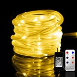 LED Rope Lights, Remote 33FT 136 LED Indoor Outdoor Rope Lights, 8 Modes/Timer,...