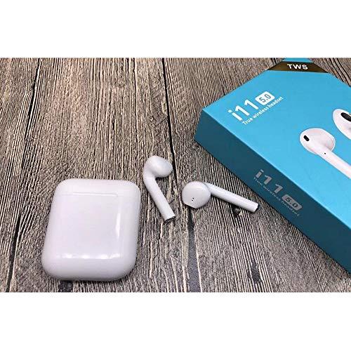 Fone De Ouvido Bluetooth 5.0 Sem Fio Recarregável Microfone Atende Ligação Android Apple AirPods ase Carregadora Touch i11 Tws Original