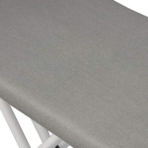 WOLTU BGT04gr Bügeltisch Bügelbrett für Dampfbügeleisen mit Ärmelbrett Grau 110 x 30 cm - 5