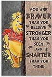 DPZAFL Posters para Pared Póster Vintage You Are Braver0825...