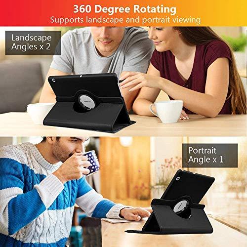 KATUMO Hülle für Huawei Mediapad M5 Lite 360° Rotierend Hülle mit Standfunktion für Tablet M5 Lite 10.1 Zoll PU Leather Schutzhülle