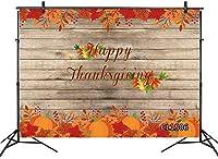 新しい幸せな感謝祭の背景10x7ftファブリック秋の赤い葉感謝祭のパーティーのためのビンテージウッド写真の背景ケーキテーブルバナー写真ブース背景小道具洗える