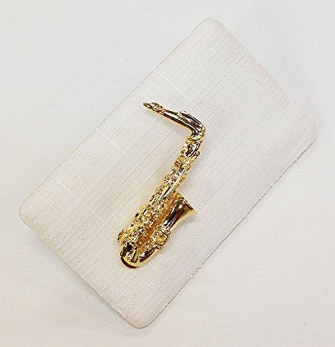 ART OF MUSIC Anstecker Saxophon klein Gold
