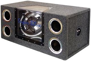 "12"" 1200W Car Audio Subwoofer - 2 Way Neon Bandpass Speaker System w/ Blue Lights, DC 12V Input/4 Ohm/32Hz-1KHz Freq.Res ... photo"
