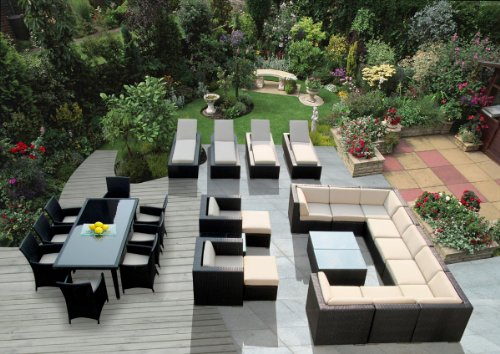 Wicker Patio Furniture Set by Ohana Collection