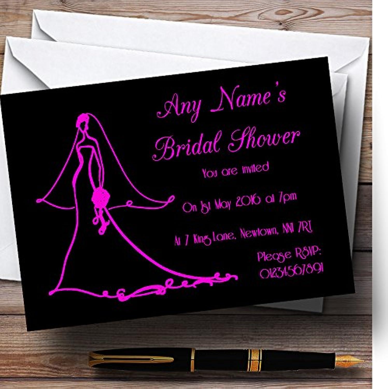 Pink Elegant Personalised Bridal Shower Party Invitations   Invites & Envelopes